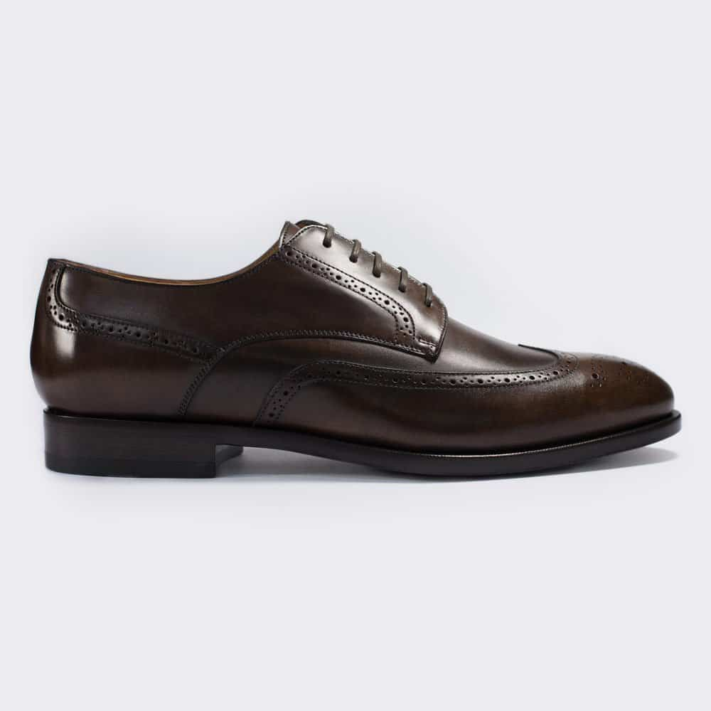 Chocolate Brown Derby Full-Brogue Men's Shoe
