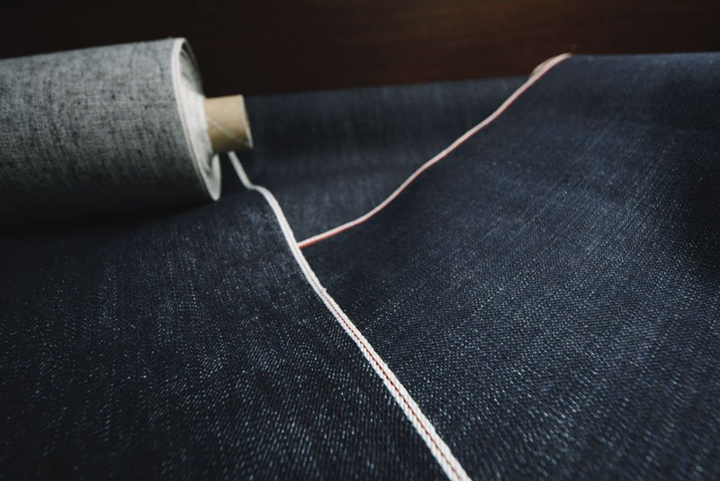 Selvedge Denim Stoff Rollen