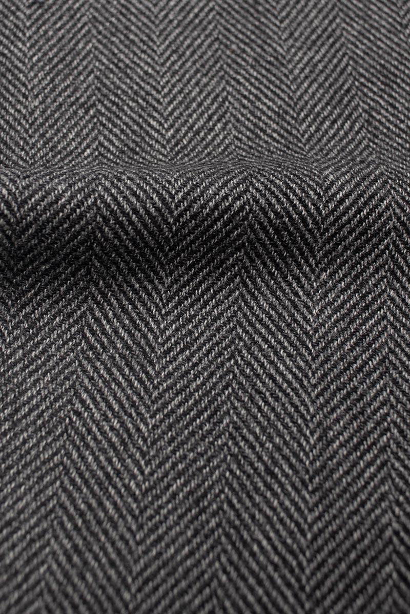 Grauer Herringbone Sakko Stoff
