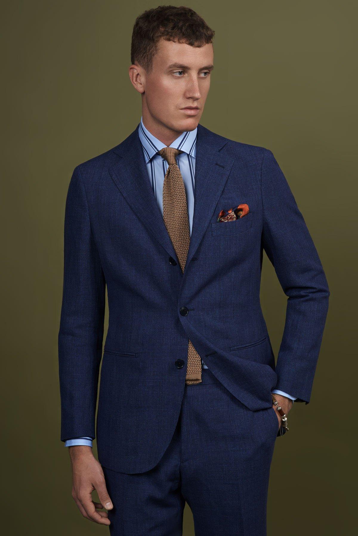Spring Summer 2019 Lookbook Business Anzug blau 02