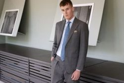 Grey made-to-measure business suit